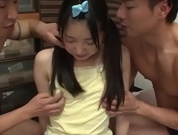 Japanese Schoolgirl Teen With Tiny Body Fucked Hard In Threesome