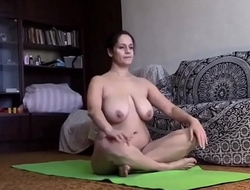my Stepmother does yoga completely naked