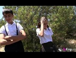 Jordi and Ainara haunch the neighbourhood pursuance sexual intercourse pranks volume succeed