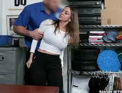 Sexy MILF Havana Bleu taught that shes an expert in stealing but got caught on cctv and fucked inside the office.