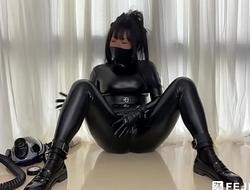 [Fejira com] Latex girl masturbate with part2