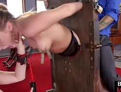 Bound bdsm sub doggystyled off out of one's mind dom in kinky ffm